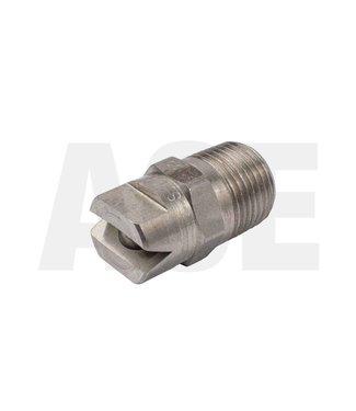 """RVS 3/8"""" vlakstraal nozzle 80100, schuimbuis"""