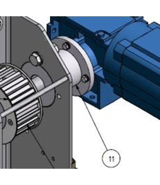 Holz afstandstuk voor elektromotor HD-RAWA