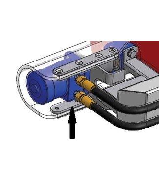 RVS motorophanging voor links en rechts PE196 Hydraulisch