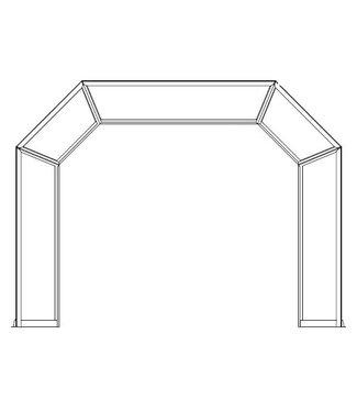 Holz showboog plexiglas bovendeel doorzichtig glas (+100)