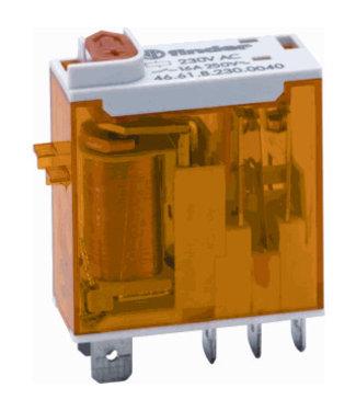 Finder type 46 steek relais 230VAC, 5 pins, 16A