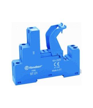 Finder relaisvoet blauw type 46, klemveer aansluiting