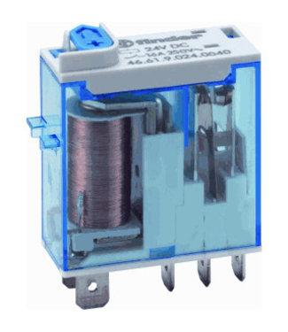 Finder type 46 steek relais 24VDC 5 pins 16A