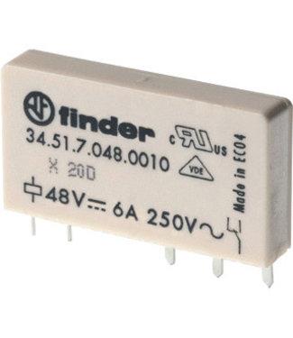 Finder printrelais 5 pins enkelspoor 24vdc 345170240010