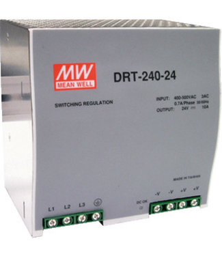 Meanwell voeding 10A 24vdc, 380v