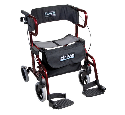 Drive Diamond Deluxe Rollator en Rolstoel in 1 (10,3 kg)