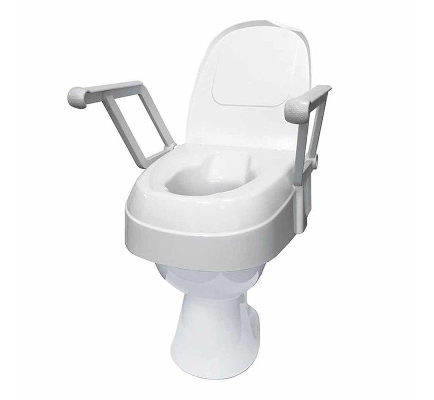 Toiletverhoger TSE 120 met armleuningen