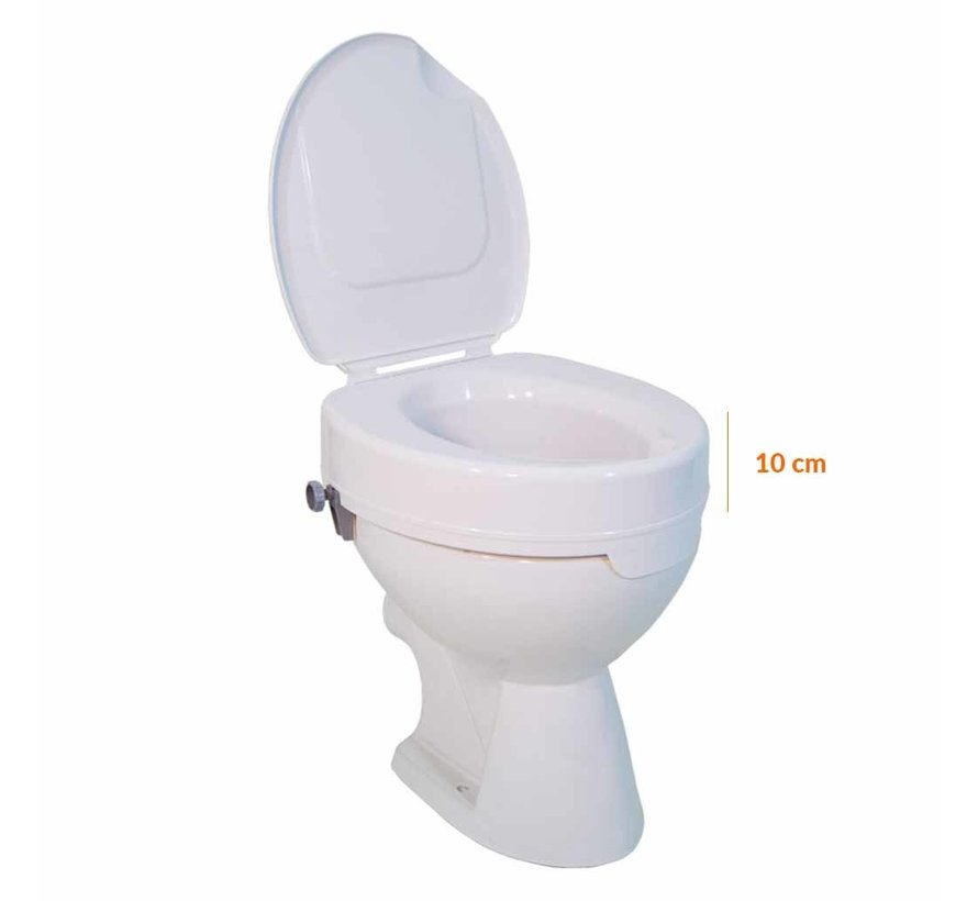 Toiletverhoger Ticco 2G 10 cm met Deksel