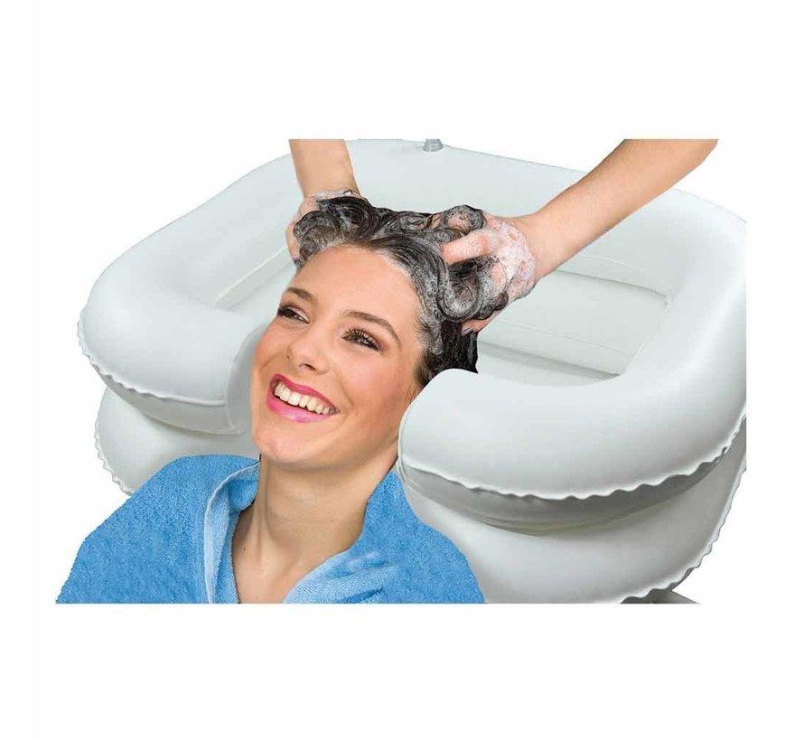Haarwasbak opblaasbaar met afvoerslang