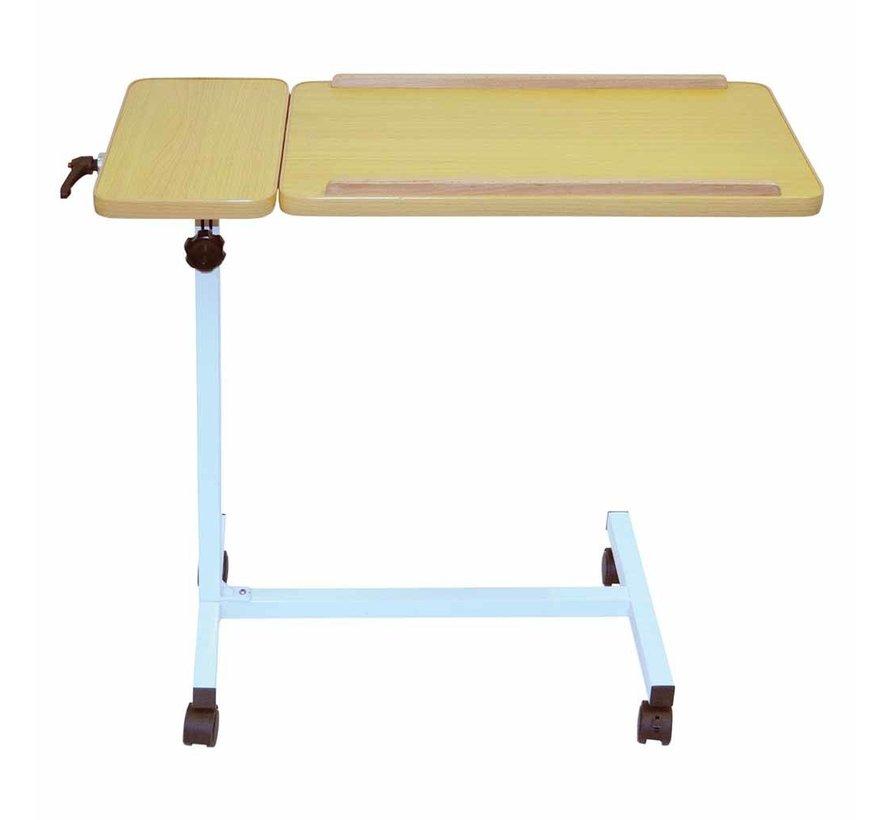 Bedleestafel met kantelbaar blad en wielen