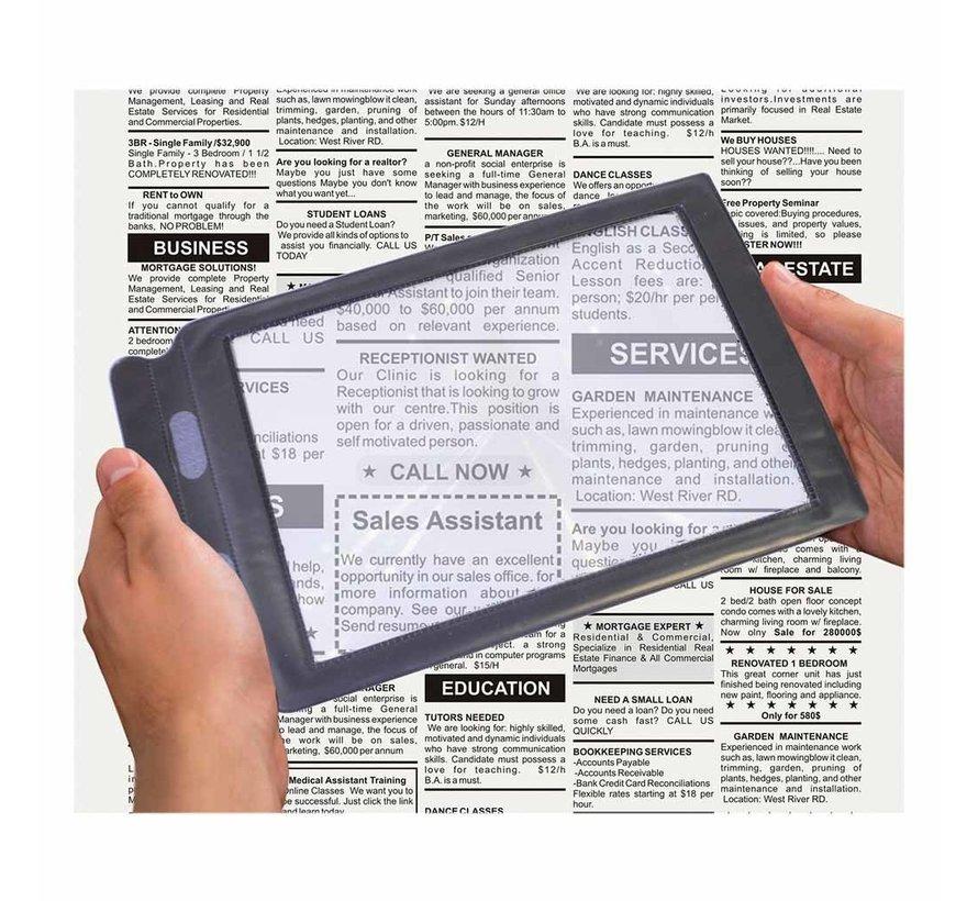 Flexibel vergrootglas voor bij het lezen van kranten & boeken