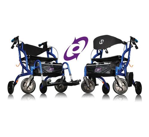 Airgo Fusion rollator en rolstoel in een (7,7 kg)