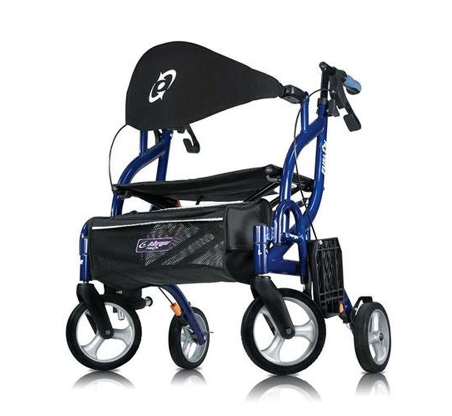 Fusion rollator en rolstoel in een (7,7 kg)