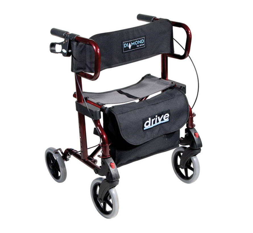 Diamond Deluxe Rollator en Rolstoel in 1 (10,3 kg)