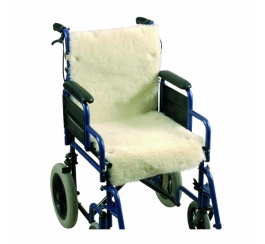 Schapenvacht voor rolstoel - zitting en rugleuning