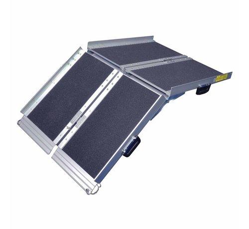 Rolstoel oprijplaat opvouwbaar tot koffer 122 cm