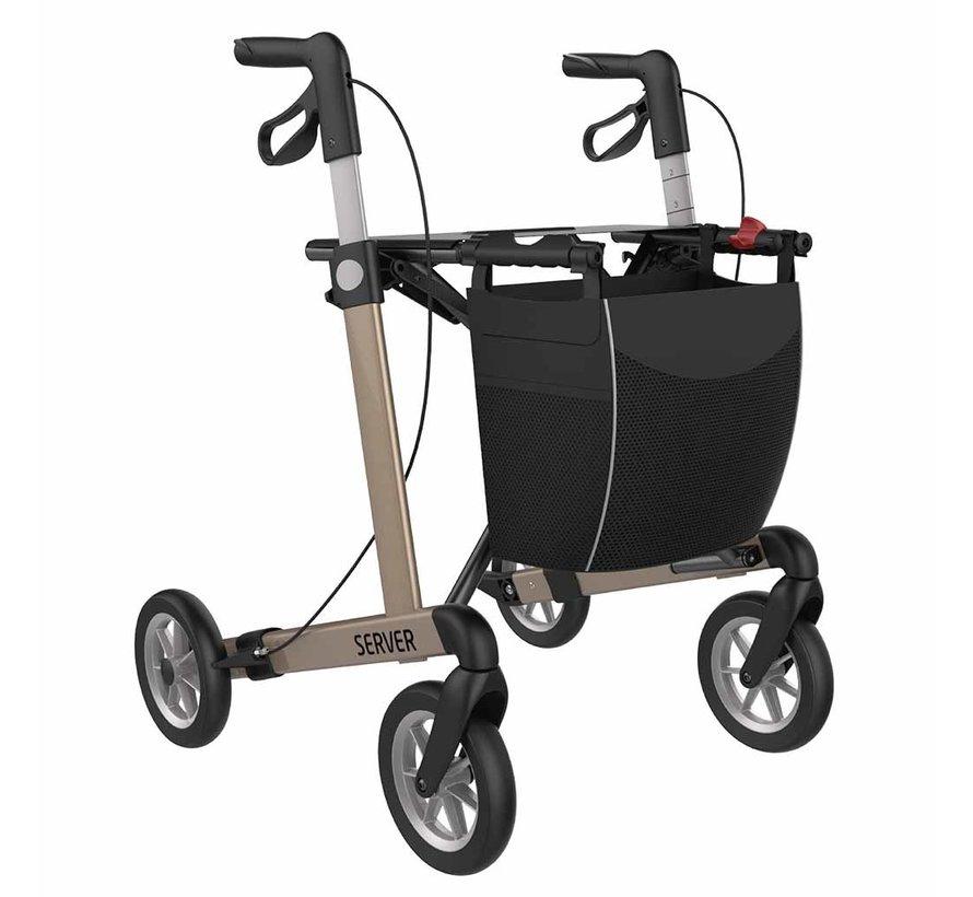 Lichtgewicht rollator Server Comfort met SOFT wielen (7 kg)