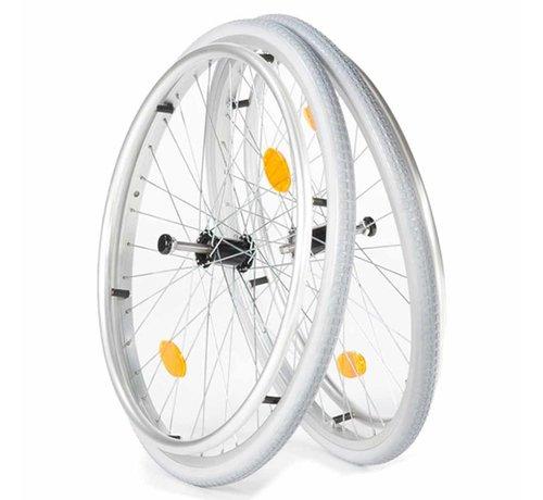 Rolstoel wielen met luchtbanden (2 stuks)