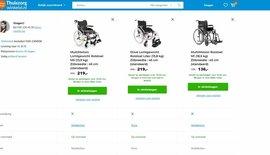 Vergelijk onze rolstoelen of rollators