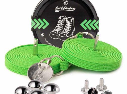 Quickshoelaces Elastische schoenveters neon
