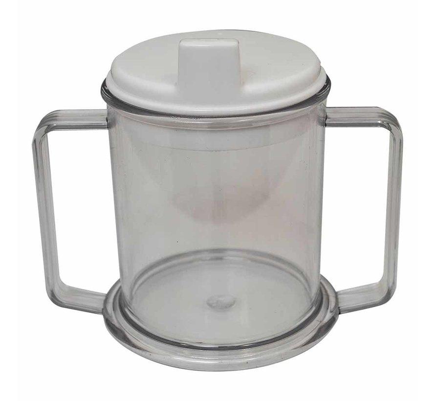 Drinkbeker met tuit en 2 handvatten