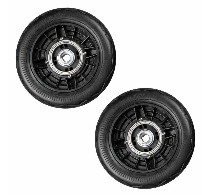 Massieve achterwielen voor JoyRider en SplitRider (2 stuks)