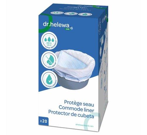 Dr Helewa Hygiënische opvangzakken voor toiletemmer Postoel