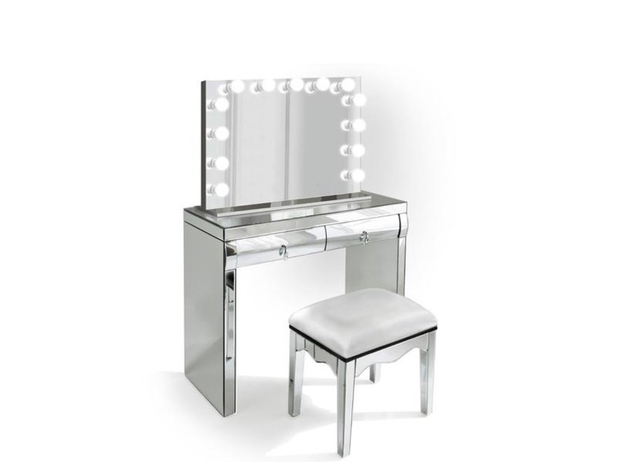 BRIGHT BEAUTY VANITY STATION MINI - MIRRORED