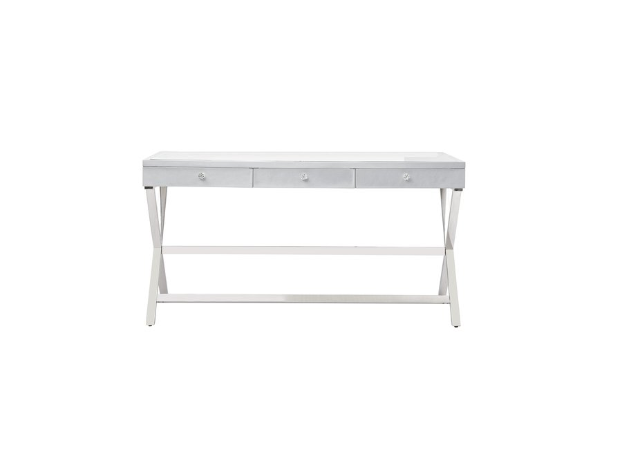 BRIGHT BEAUTY DRESSING TABLE - SILVER