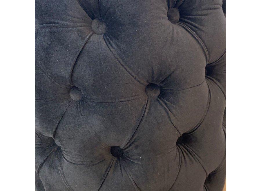 Sgabello velluto - nero