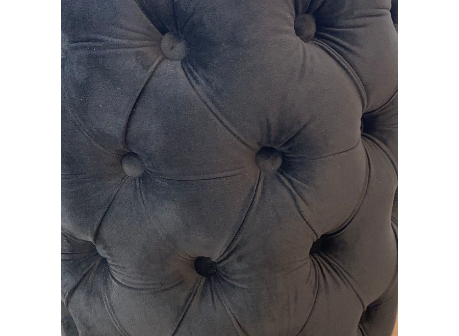 Tabouret velours - noir