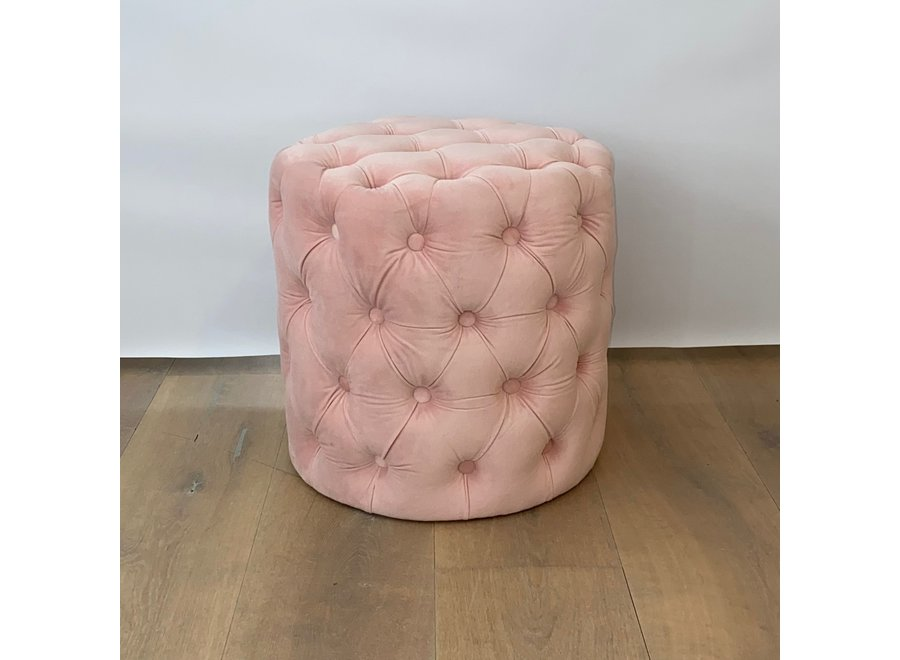 Hocker samt - rosa