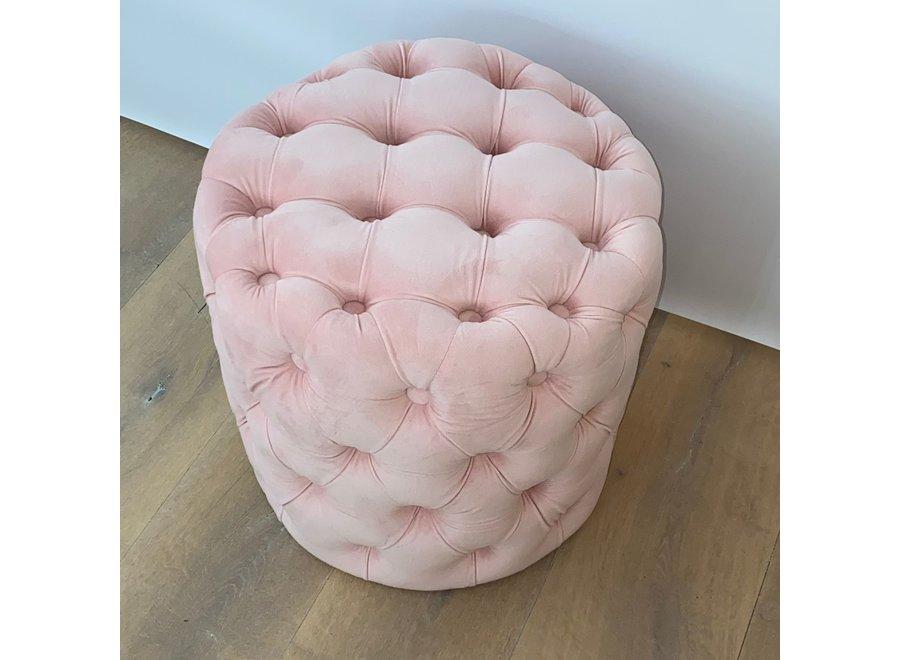 Stool velvet - pink