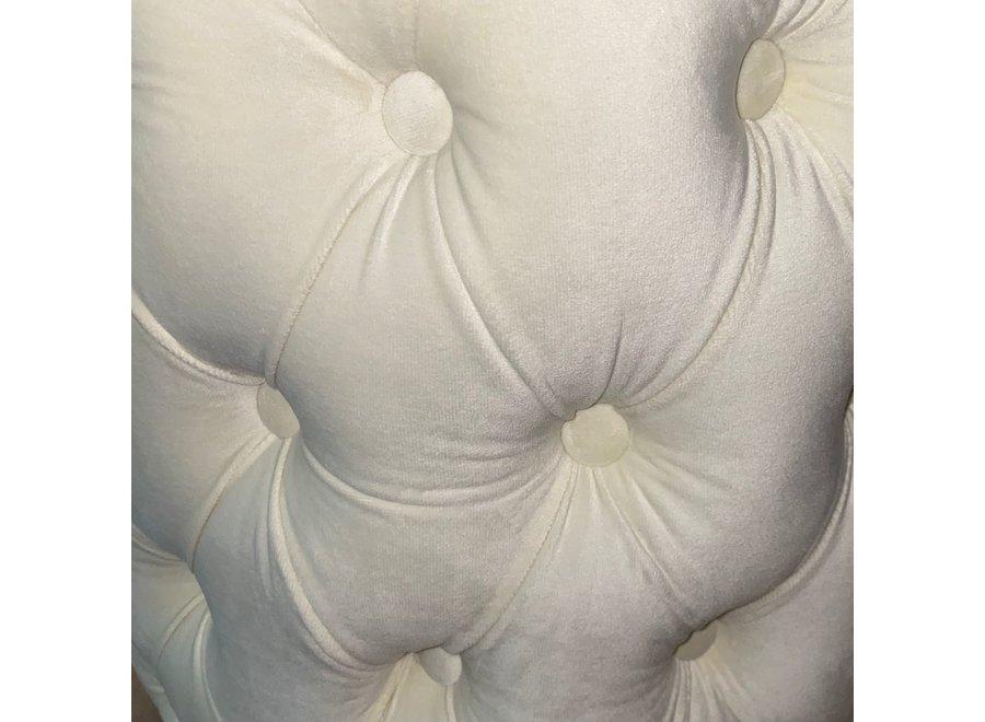 Tabouret velours - blanc