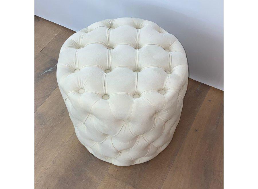 Stool velvet - white