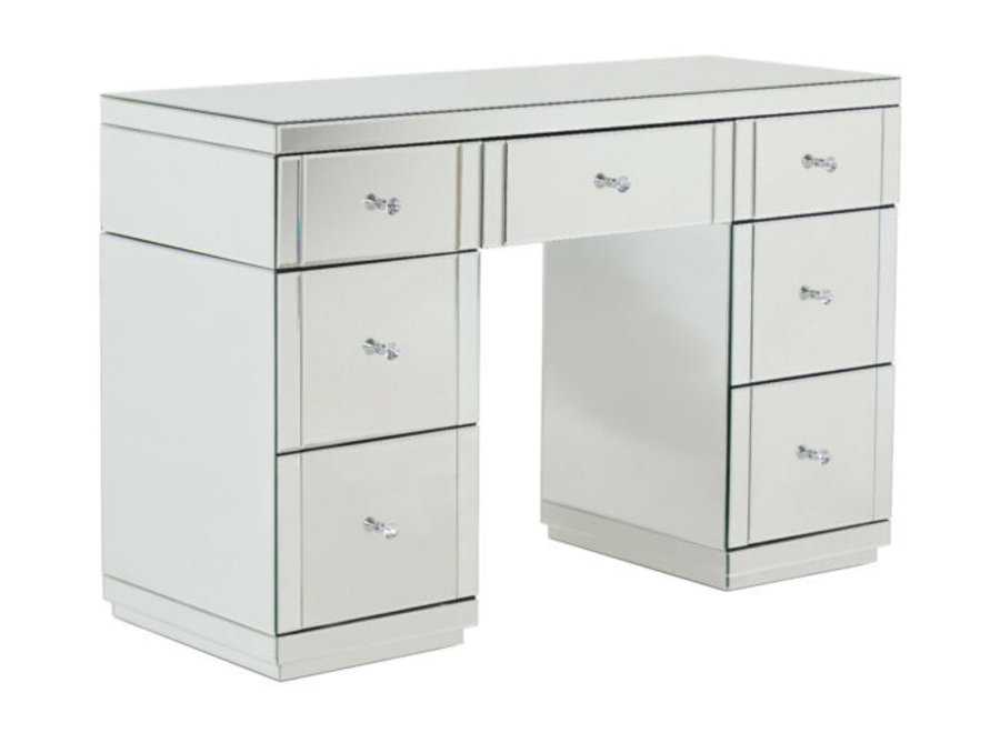 BRIGHT BEAUTY DRESSING TABLE LUXURY GLASS - SILVER