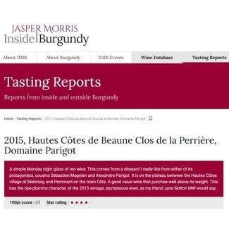 Domaine Parigot 'Clos de la Perrière' Bourgogne Hautes-Côtes-de-Beaune Rouge 2015