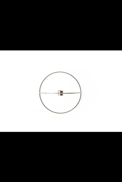 POV Circle Candleholder - Small - Silver