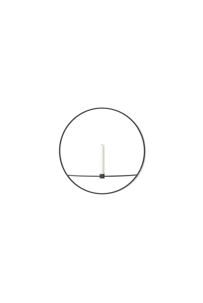 POV Circle Candleholder - Large -  Black