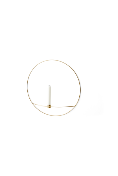 POV Circle Candleholder - Large - Brass