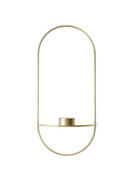 POV Oval Tealight Candleholder - Brass