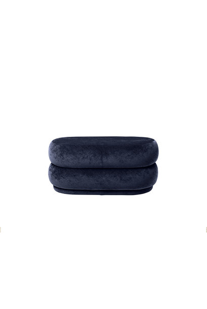 Pouf Oval - Faded Velvet - Medium (meerdere kleuren)