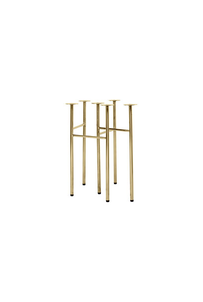 Mingle Table Legs W48 Brass