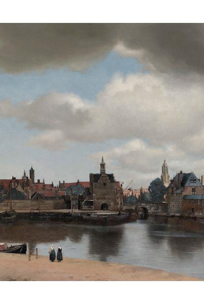 Behangpaneel Gezicht op Delft