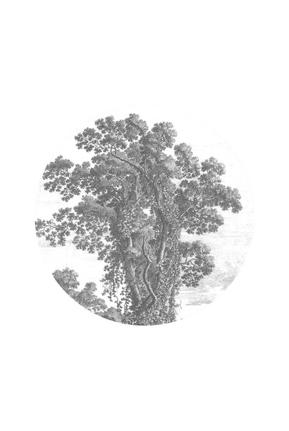 Behangcirkel Engraved Tree - Small