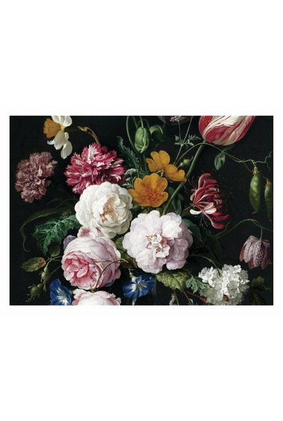 Fotobehang Golden Age Flowers 3 - 389.6 x 280