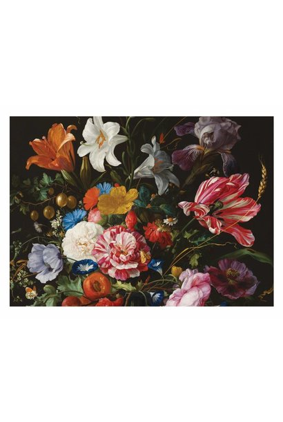 Fotobehang Golden Age Flowers 6 - 389.6 x 280