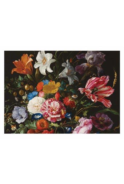 Fotobehang Golden Age Flowers 6 - 389.6 x 280