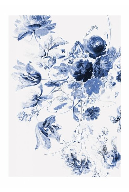 Fotobehang Royal Blue Flowers 3 - 194.8 x 280