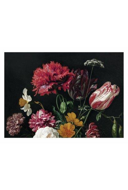 Fotobehang  Golden Age Flowers 2 - 389.6 x 280